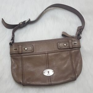 Fossil Leather Key Per Satchel Shoulder Bag